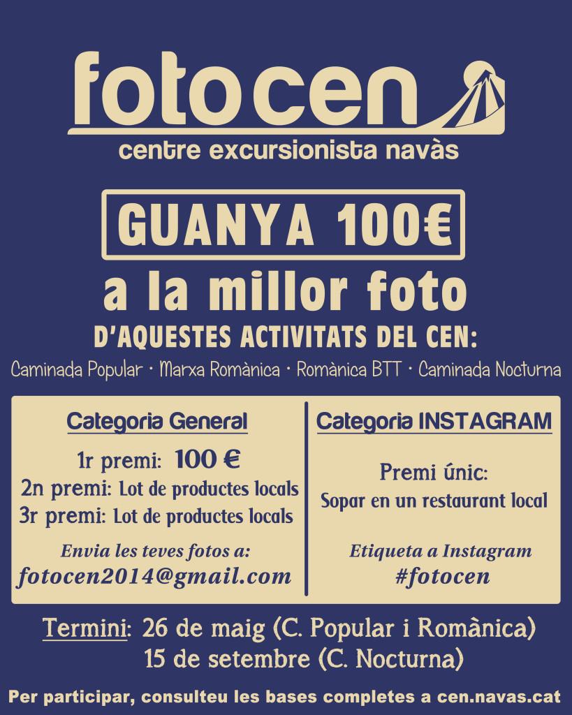 Cartell del concurs fotogràfic FotoCEN