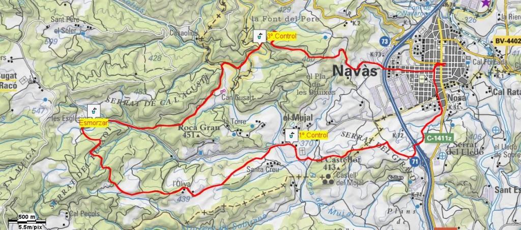 Mapa Caminada Popular 2008