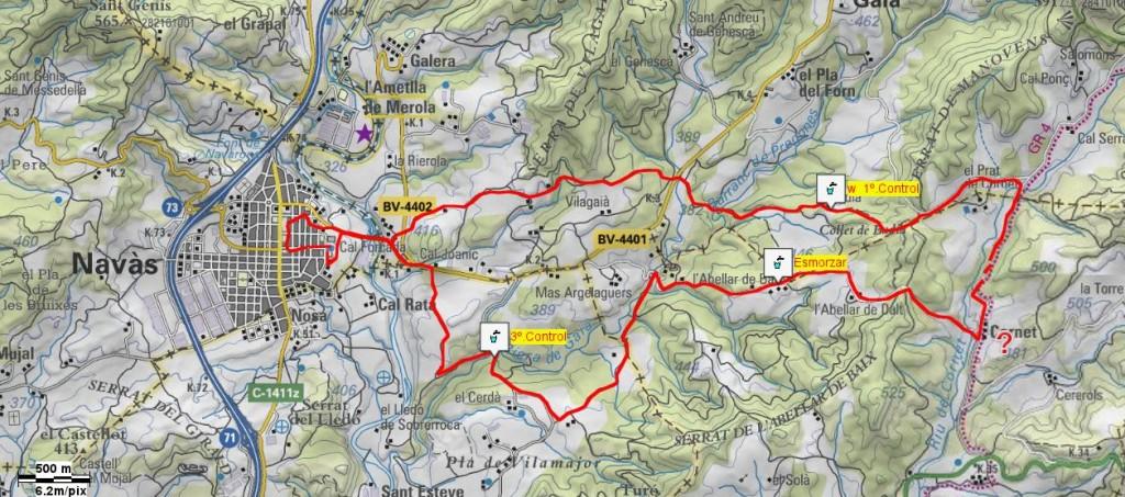 Mapa Caminada Popular 1994