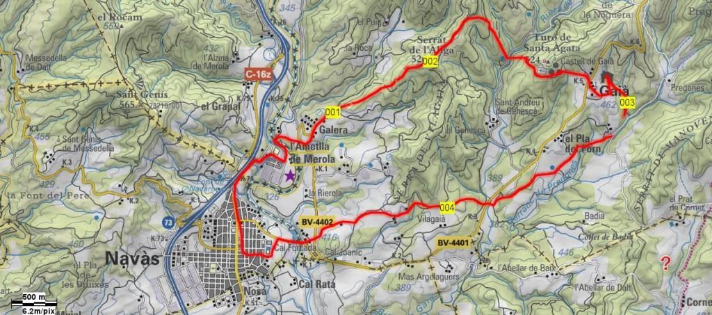 Mapa Caminada Popular 1996