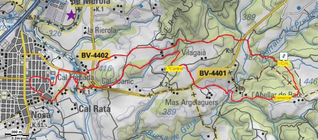 Mapa Caminada Popular 2001