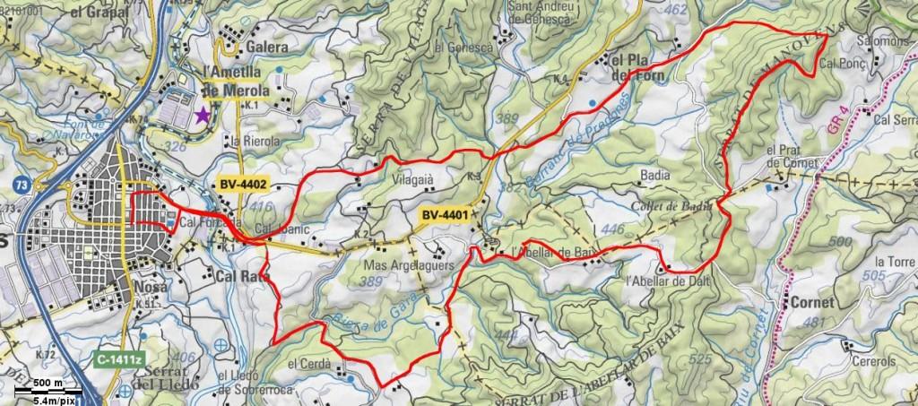 Mapa Caminada Popular 2005