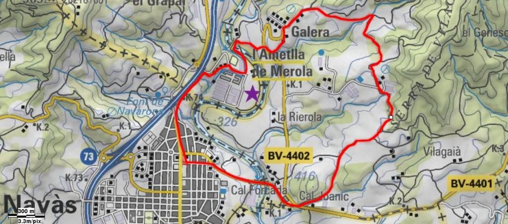 Mapa Pels voltants de Galera