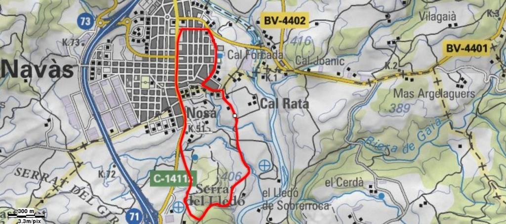 Mapa Volta al Turó del Lledó