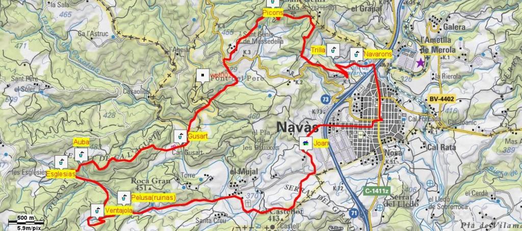 Mapa Caminada Popular 1997