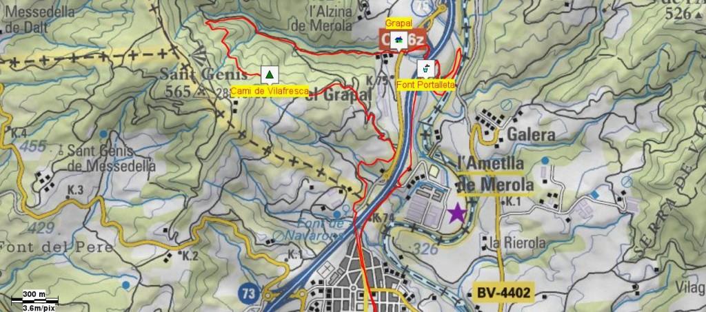 Mapa Caminada Nocturna 2015